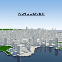 3ds max vancouver cityscape