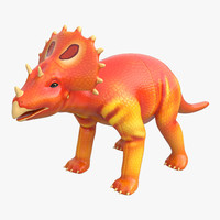 c4d dinosaur toy triceratops