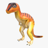 3d dinosaur toy velociraptor