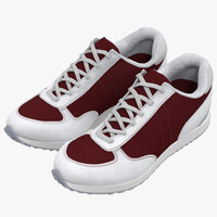 3d sneakers 3 red model