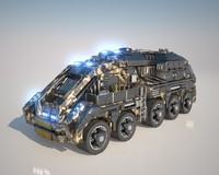 3ds max vehicle large truck
