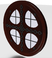 3d model tudor clear glass window