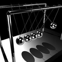 3d model newton s cradle ballance