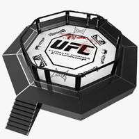 3d model ufc octagon ring