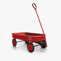 3d vintage toy wagon model