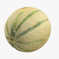 3d cantaloupe