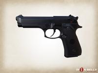 handgun beretta m9 aaa obj