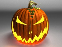 jackolantern pumpkin 3d model