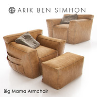 big mama armchair arik 3d obj