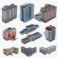 10 Low Poly Houses Set 02