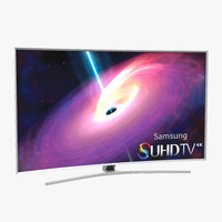 3ds max samsung curved smart tv