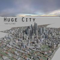 3d city huge