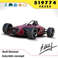 audi concept racecar car auto 3d model