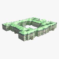 3d hermitage museum building model