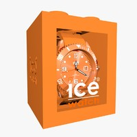 3d orange ice watch model