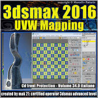 3ds max 2016 UVW Mapping v.34 cd front