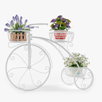 3d model bicycle outdoor plant stand