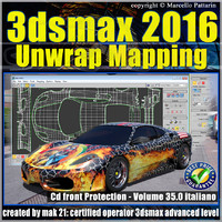 3ds max 2016 Unwrap Mapping vol 35 cd front