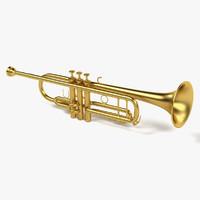 trumpet 3d model