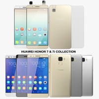 realistic huawei honor 7 3d 3ds