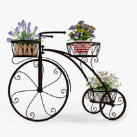 3d max bicycle outdoor plant stand