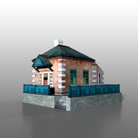 3dsmax house railway