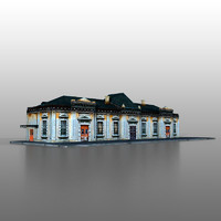 railway station 3d model