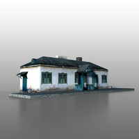 3d model of railway station