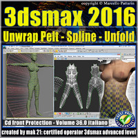 3ds max 2016 Unwrap Pelt Spline Unfold V.36 cd front