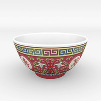 chinese porcelain bowls - 3d model