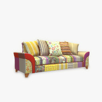 3d model modern sofa patched