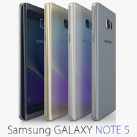 galaxy note samsung 5 3d c4d