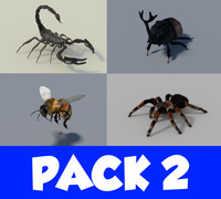 blender insect pack 2