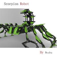 3d model robot scorpion