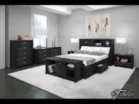 3d model of bedroom scene