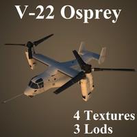 3d bell boeing osprey model