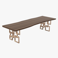 hudson dining table 3d max