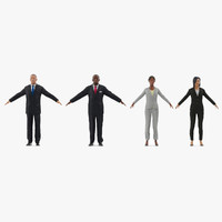 business people 2 3d model