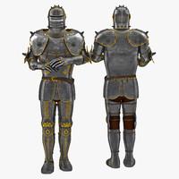 medieval suit armor 3 3d 3ds
