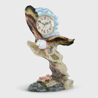 3d clock eagle model