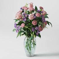3d model flowers bouquet