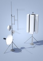 3ds max antennas tv radio