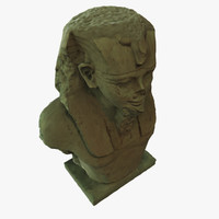 egiptian head sculpture 3d model