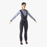 3ds max asian business woman