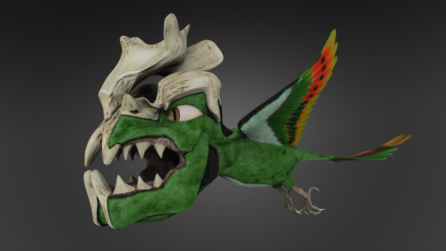 Monster Bird 3d Model