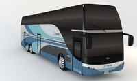 3d model bus double decker