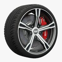 3d model bm wheel
