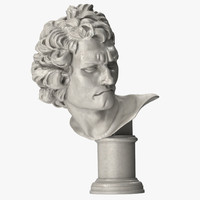 3ds max bust david gian lorenzo