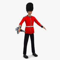 games queen s guard 3d max