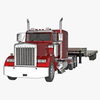 3d truck single drop tri model